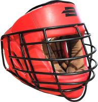 Боксерский шлем BoyBo Flexy с металлической решеткой (S, красный) -