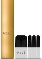 POD-система MYLE V.4 Lux Gold + 4 пустых картриджа -