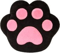 Игрушка-грелка детская Мякиши Лапа с вишневыми косточками / 644 (черный/розовый) -