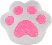 Игрушка-грелка детская Мякиши Лапа с вишневыми косточками / 643 (серый/розовый) -