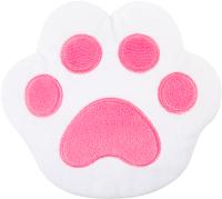 Игрушка-грелка детская Мякиши Лапа с вишневыми косточками / 645 (белый/розовый) -