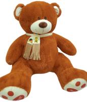 Мягкая игрушка Трикотекс Мишка Солнышко Шарф / 115-1/кор (коричневый) -