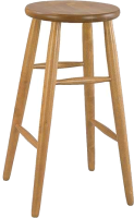 Табурет барный Экомебель Дубна Модерн высокий 42x42x74 (орех) -