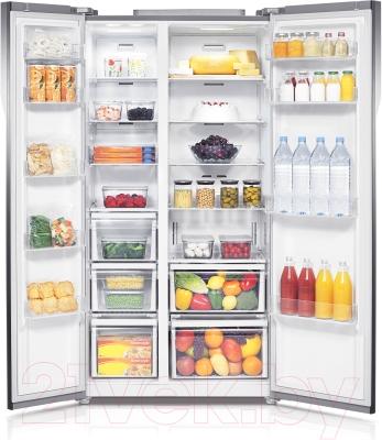 Холодильник с морозильником Samsung RS552NRUA1J/WT - изнутри