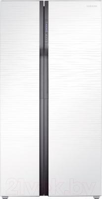 Холодильник с морозильником Samsung RS552NRUA1J/WT - фронтальный вид