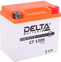 Мотоаккумулятор DELTA AGM СТ 1205 YTX5L-BS / YTZ7S / YT5L-BS (5 А/ч) -