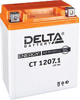 Мотоаккумулятор DELTA AGM СТ 1207.1 / YTX7L-BS (7 А/ч) -