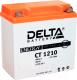 Мотоаккумулятор DELTA AGM СТ 1210 YB9A-A / YB9-B / 12N9-4B-1 (10 А/ч) -