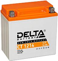 Мотоаккумулятор DELTA AGM СТ 1214 YTX14-BS / YTX14H-BS / YTX16-BS / YB16B-A (14 А/ч) -