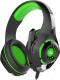 Наушники-гарнитура Crown CMGH-101T (черный/зеленый) -