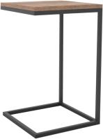 Приставной столик Hype Mebel Лайт 40x40 (черный/дуб галифакс олово) -