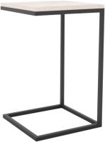 Приставной столик Hype Mebel Лайт 40x40 (черный/древесина белая) -