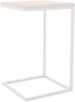 Приставной столик Hype Mebel Лайт 40x40 (белый/древесина белая) -