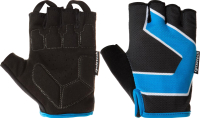 Перчатки велосипедные Cyclotech FJJXEIFA4Q / S20ECYGL005-BM (L, черный/синий) -