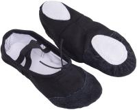 Балетки танцевальные Amely SL-01 (р-р 40, текстиль/черный) -