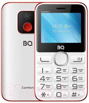 Мобильный телефон BQ Comfort BQ-2301 (белый/красный)