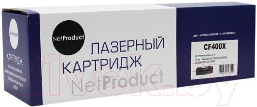 Купить Картридж NetProduct, N-CF400X, Китай, черный