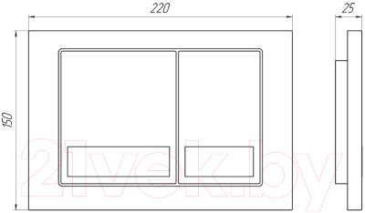 Кнопка для инсталляции Анипласт WP1210 (хром)