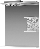 Шкаф с зеркалом для ванной Ванланд Ирис Ирз 1-55 (правый) -