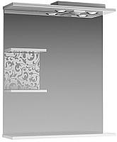 Шкаф с зеркалом для ванной Ванланд Ирис Ирз 1-55 (левый) -
