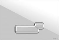 Кнопка для инсталляции Cersanit Actis P-BU-ACT/Wh (пластик белый) -