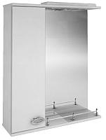 Шкаф с зеркалом для ванной Ванланд Жемчуг Жз 1-65 (левый) -