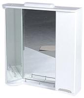 Шкаф с зеркалом для ванной Ванланд Жемчуг Жз 4-80 (серая вставка, правый) -