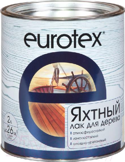 Купить Лак яхтный Eurotex, Полуматовый (2л), Россия, бесцветный