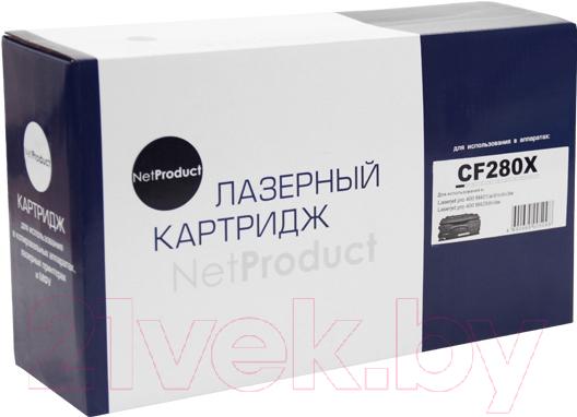 Купить Картридж NetProduct, N-CF280X, Китай, черный