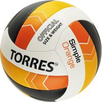 Мяч волейбольный Torres Simple Orange / V32125 (размер 5) -