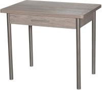 Обеденный стол Древпром М20 90x60 с ящиком (металл/навара) -
