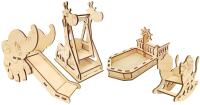 Комплект аксессуаров для кукольного домика POLLY Площадка для кукол / РА-01 -