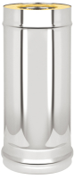 Труба дымохода Везувий 0.5мм д.150х250 L-1м (оцинкованный) -
