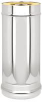 Труба дымохода Везувий 0.8мм д. 115х180 L-1м (оцинкованный) -