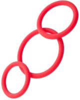 Набор эрекционных колец ToyFa Black & Red / 901404-9 (красный) -