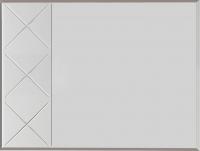 Зеркало Мебелони Кимберли З-04 (ясень белый/белый глянец) -