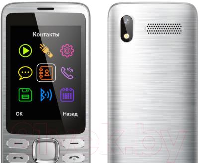 Мобильный телефон Vertex D570 (серебристый)