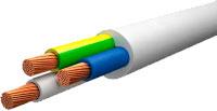Провод силовой Ecocable ПВС 3x1 (10м, белый) -
