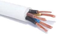 Провод силовой Ecocable ПВС 5x0.75 (5м, белый) -