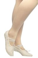 Балетки танцевальные Dance Pro Текстильные (р.32, белый) -