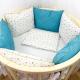 Комплект постельный в кроватку DreamTex Изумрудный -