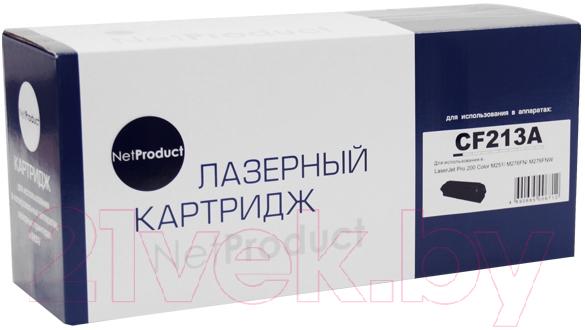 Купить Картридж NetProduct, CF213A, Китай, пурпурный