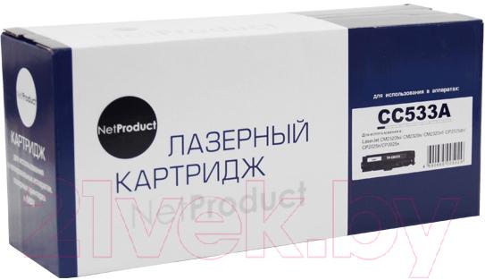 Купить Картридж NetProduct, N-CC533A/ № 718, Китай, пурпурный