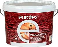 Защитно-декоративный состав Eurotex Аква (9кг, белый) -