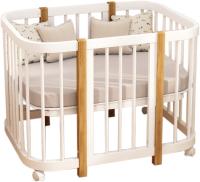 Детская кровать-трансформер Dreams Смарт / 1520 (белый/натуральный) -