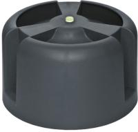 Колпак для вентиляционного выхода Krovent HupCap 270 RAL 9005 (черный) -