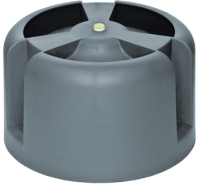 Колпак для вентиляционного выхода Krovent HupCap 270 RAL 7024 (серый) -