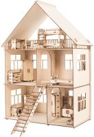 Кукольный домик ХэппиДом Коттедж с мебелью / HK-D002 -