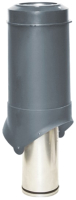 Выход вентиляционный на крышу Krovent Pipe-VT IS 125/изол./500 RAL 7024 (серый) -
