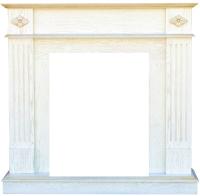 Портал для камина Смолком Brighton STD-ASP (белый дуб) -